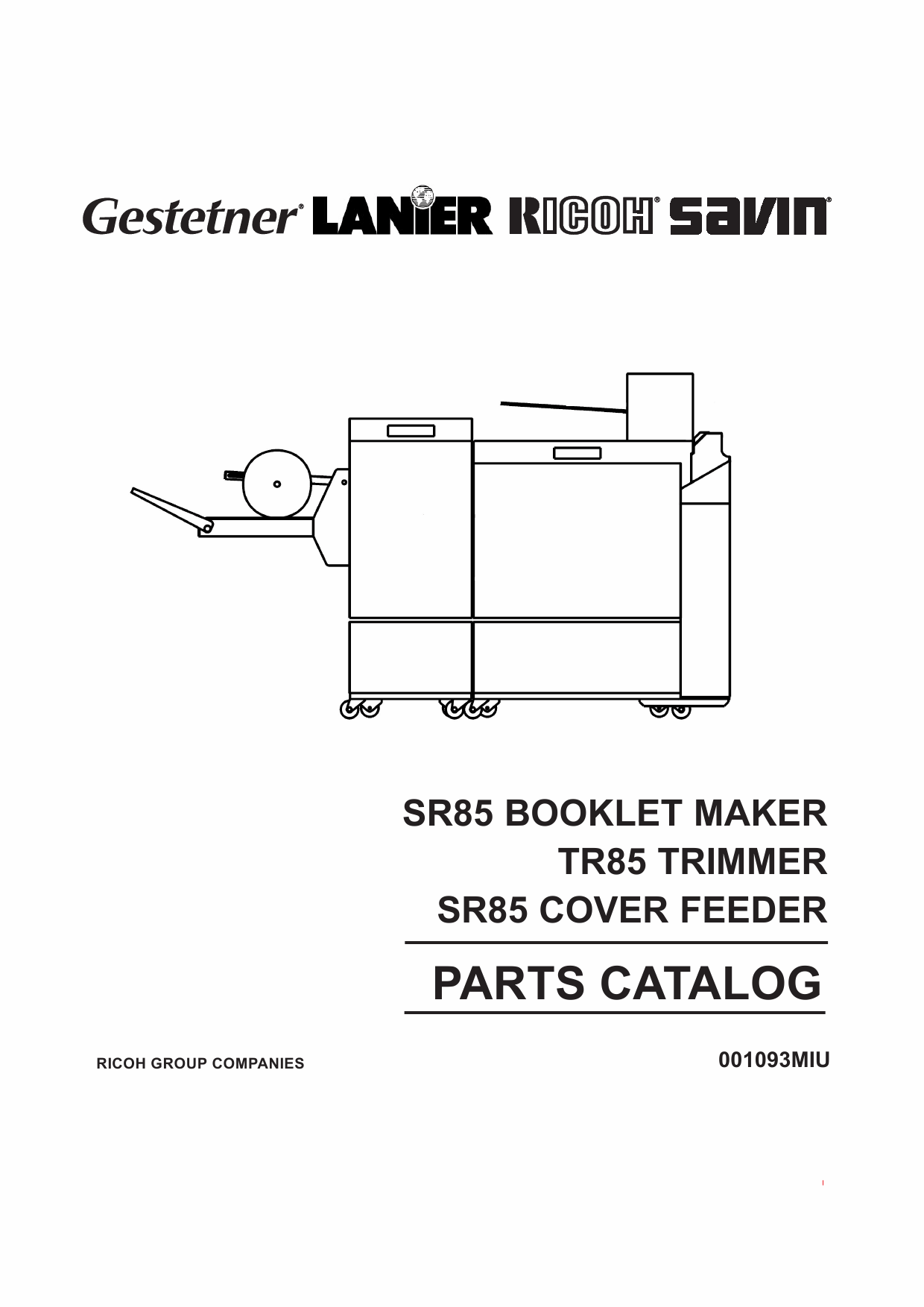RICOH Options SR85 BOOKLET-MAKER TRIMMER COVER-FEEDER Parts Catalog PDF download-1